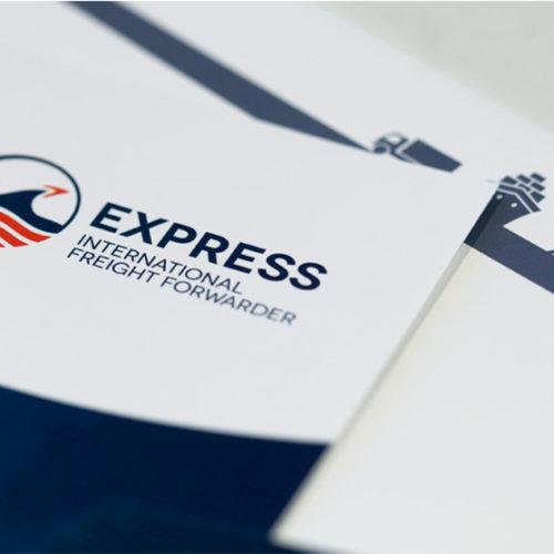 mintlab brand identity Express International Freight Forwarder