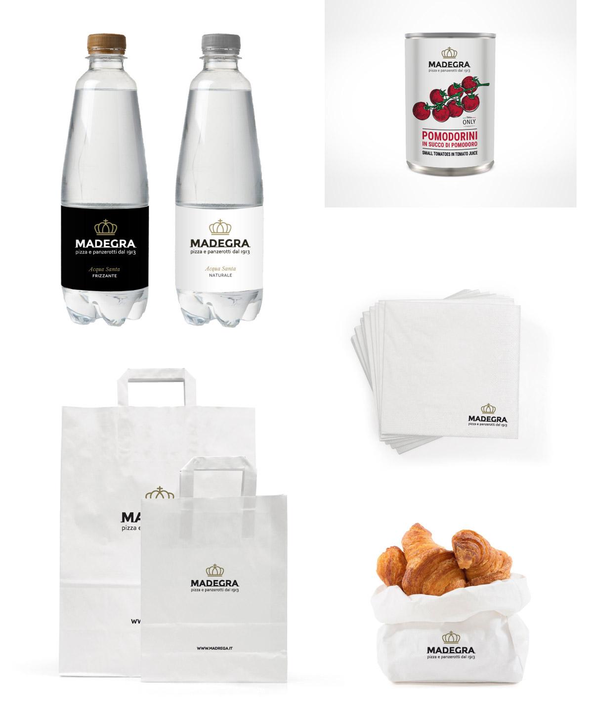 mintlab-brandidentity-Madegra-pizza-e-panzerotti-packaging-shopper-acqua-tovaglioli-lattina-pomodoro
