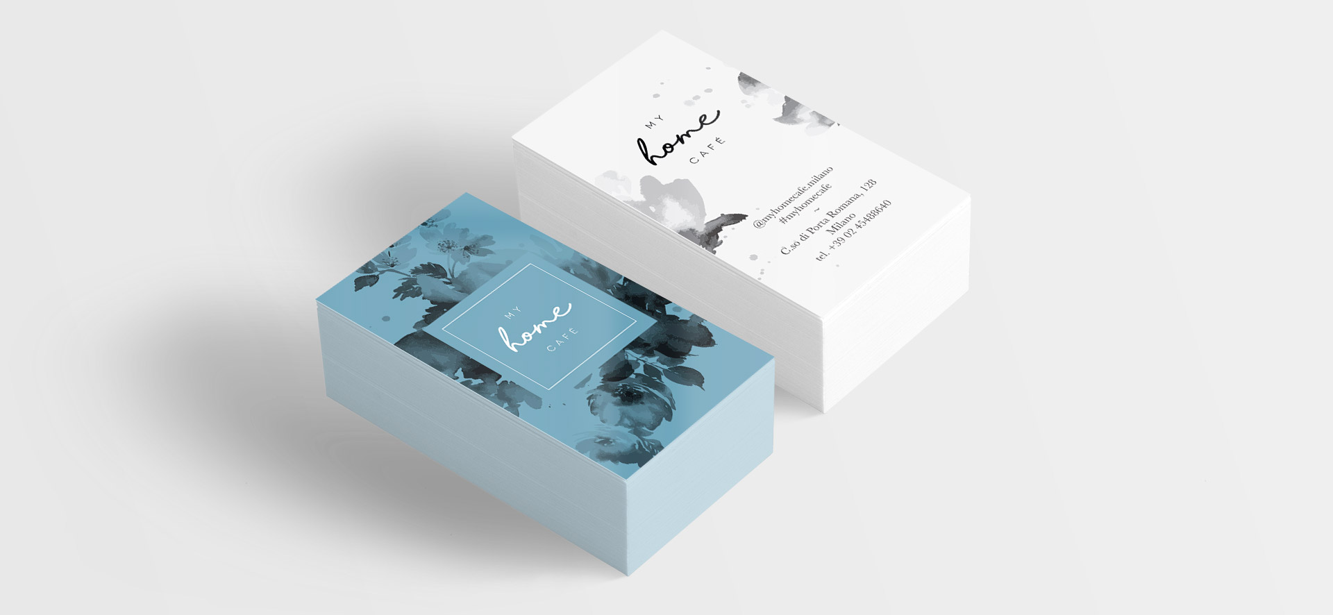 my home cafè brand identity business card
