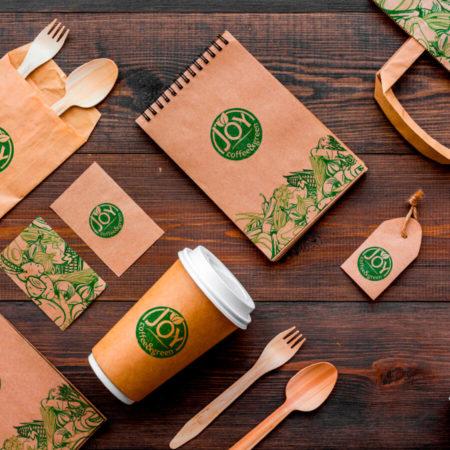 Joy coffee&green milano packaging eco kraft