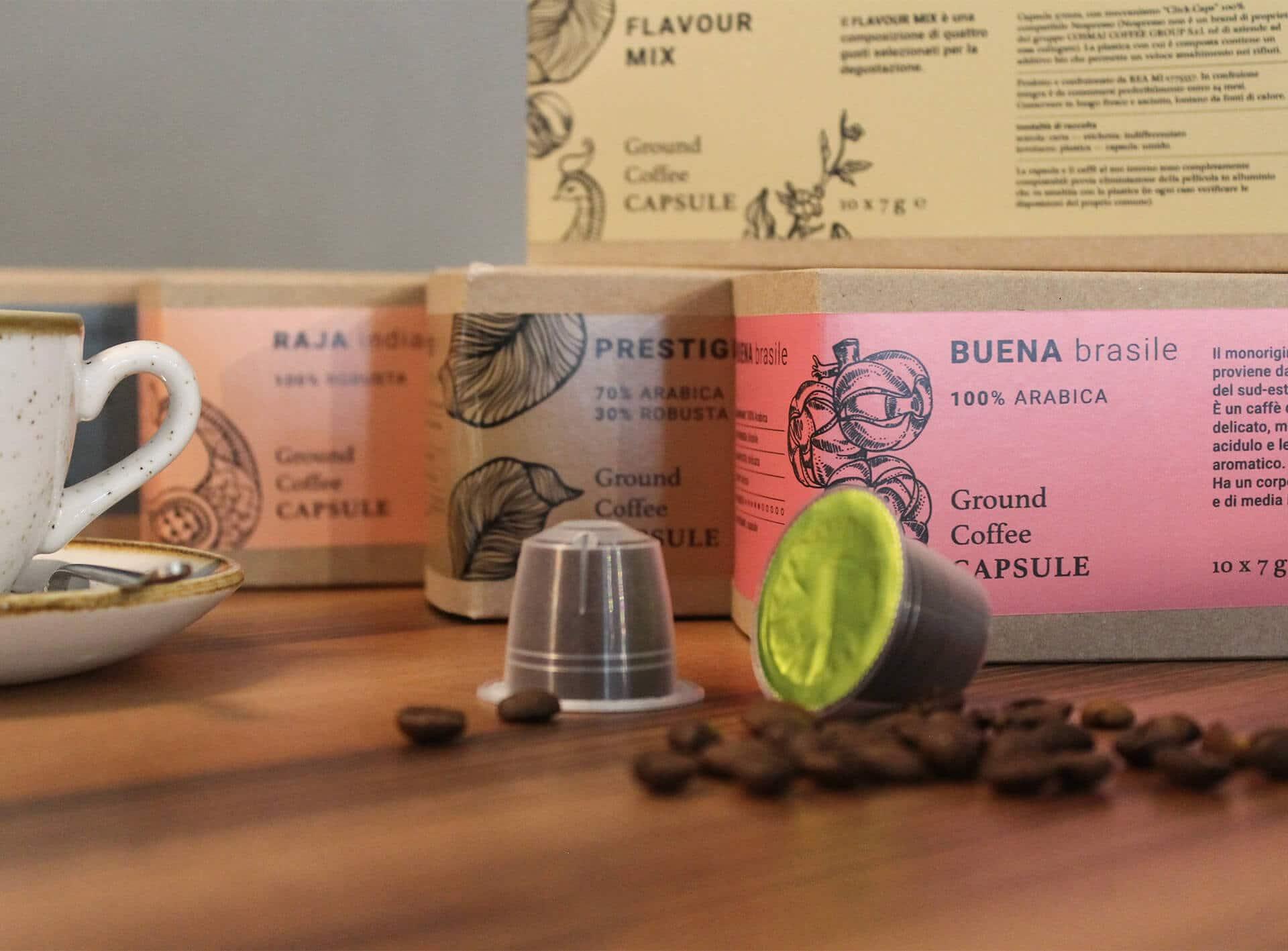 Coffee capsule packaging design